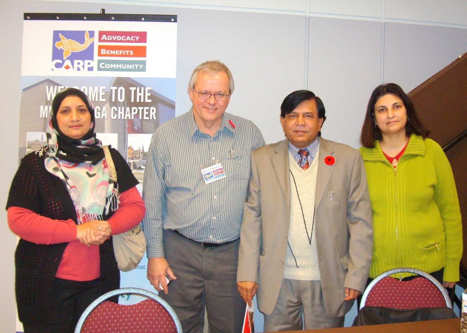 Murray Etherington Chairman CARP Mississauga Chapter and other Community Service Representatives