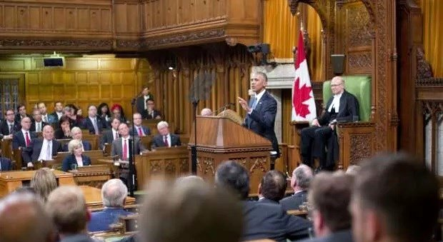 President Barack Obama speech at Parliament, Ottawa Canada 29 June 2016 Google image from http://www.hiiraan.com/images/gallery/2016/jun/20166306360284695460728712a.jpg
