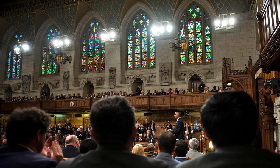 President Barack Obama speech at Parliament, Ottawa Canada 29 June 2016 Google image from