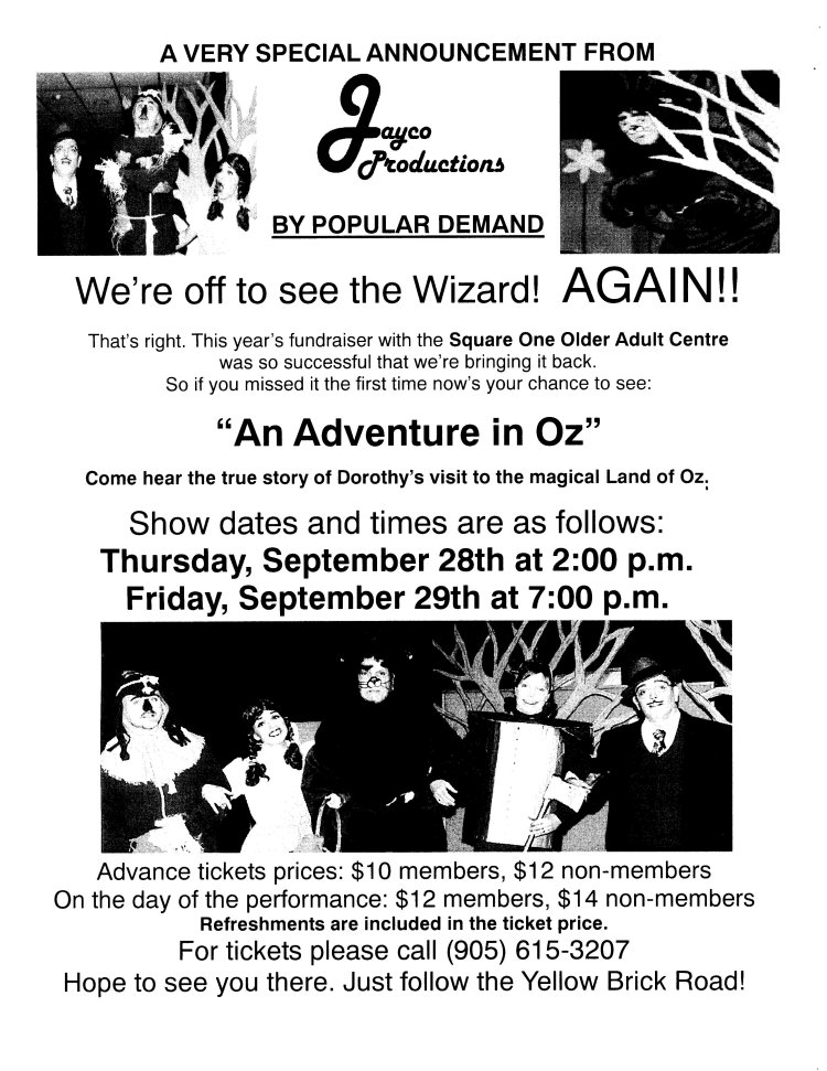 Adventure in Oz - Again!