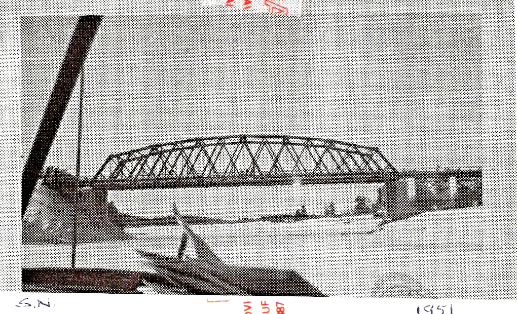 Plane Under Bridge Sioux Narrows 1951