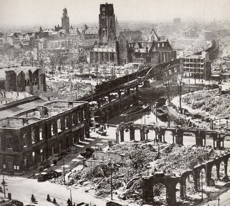 Rotterdam after German Bombing in 1940 Google image from http://www.historyguy.com/worldwartwo/Rotterdam_bombing_1940.jpg