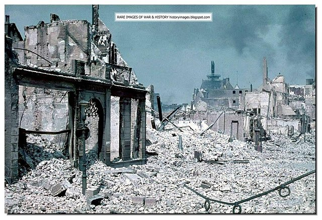 Rotterdam destroyed after German bombing 1940 Google image from http://1.bp.blogspot.com/-iBNizeiSHug/Tq5V4X0wqSI/AAAAAAAAG0M/IJFj44WQQwY/s640/rotterdam-destroyed-german-bombing-may-1940-003.jpeg