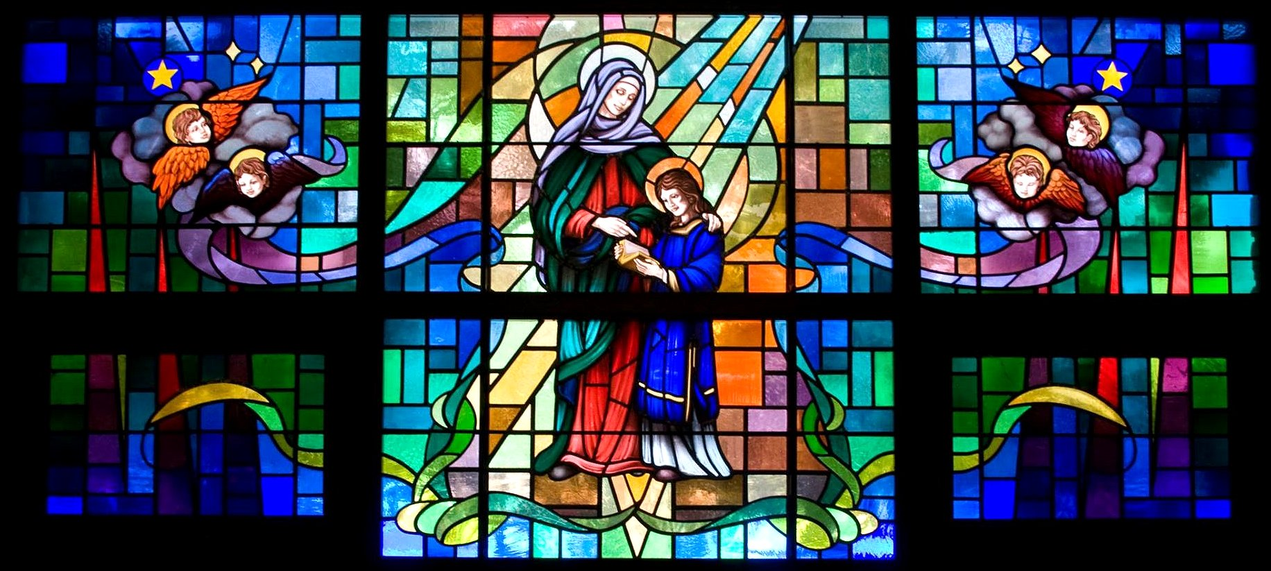 Saint Anne Stained Glass Google image from https://www.facebook.com/catholiccemeteriesfuneralservices/photos/pb.1549040632084620.-2207520000.1472364307./1653835971605085/?type=3&theater r