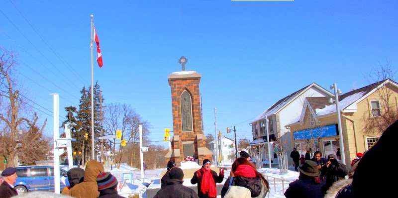 Brad Butt at Streetsville Village Square 154 Queen St S. Mississauga ON Photo by I Lee Flag Day 15Feb15