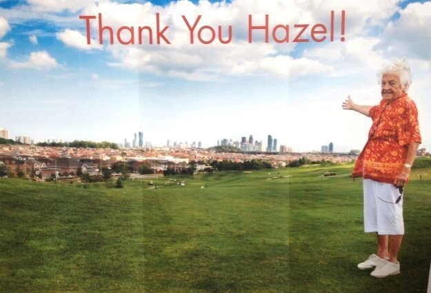Thank You Hazel Giant Poster Before Signatures 19 Oct 2014 at Living Arts Centre