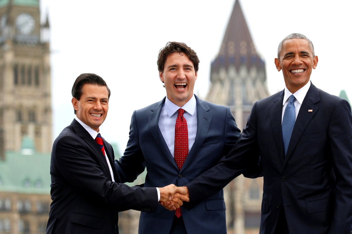 Three Amigos: Mexican President Enrique Pena Neito, Prime Minister Justin Trudeau, U.S. President Barack Obama, 29 June 2016 Google image from https://www.thestar.com/content/dam/thestar/news/canada/2016/06/29/climate-deal-caps-north-american-leaders-summit/tab-na-three-amigos2903jpg.jpg