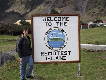Craig Rowland on Tristan da Cunha island, Fall 2013 image from http://www.mississauga.com/whatson-story/4417743-librarian-checks-out-remote-places/