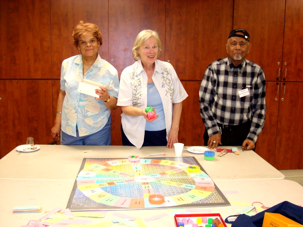 Trivial Pursuit players  Senior Month Games Day