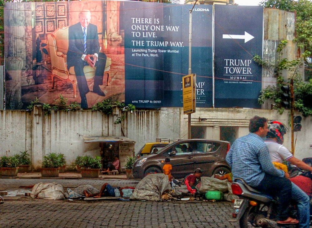 Trump Billboard in Mumbai Photo by Paul Needham, August 2014