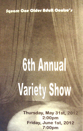 6th Annual Variety Show Program Cover