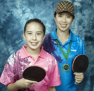 Wendy Chen and daughter Amy Nichols, Members of Mississauga Rattlers Table Tennis Club