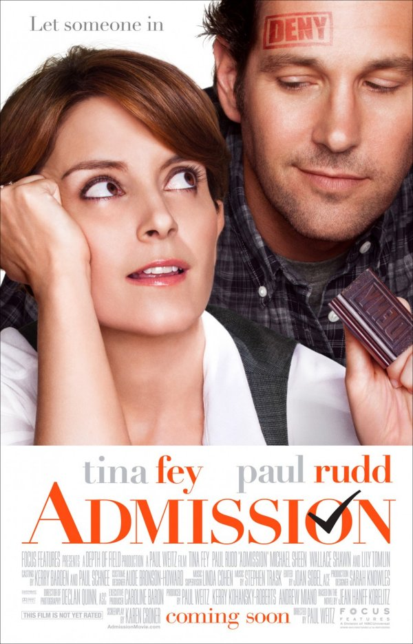 Admission (2013) Movie Poster Google image from http://www.impawards.com/2013/posters/admission_xlg.jpg