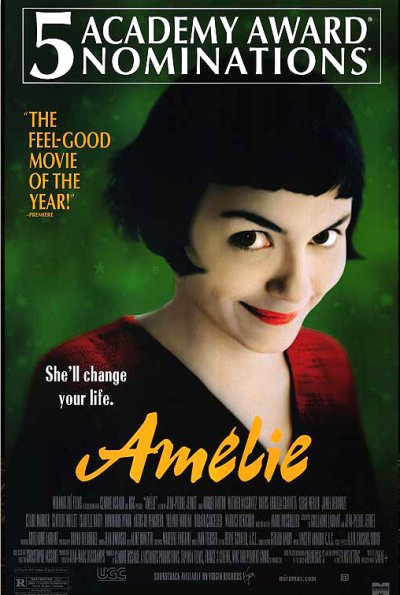 Amelie (2001) Movie Poster Google image from https://joebeckwithmedia.files.wordpress.com/2011/10/amelie.jpg