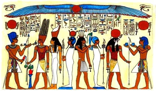 Ancient Egypt Google image from http://euler.slu.edu/~bart/abimages/temple-gods-small.jpg