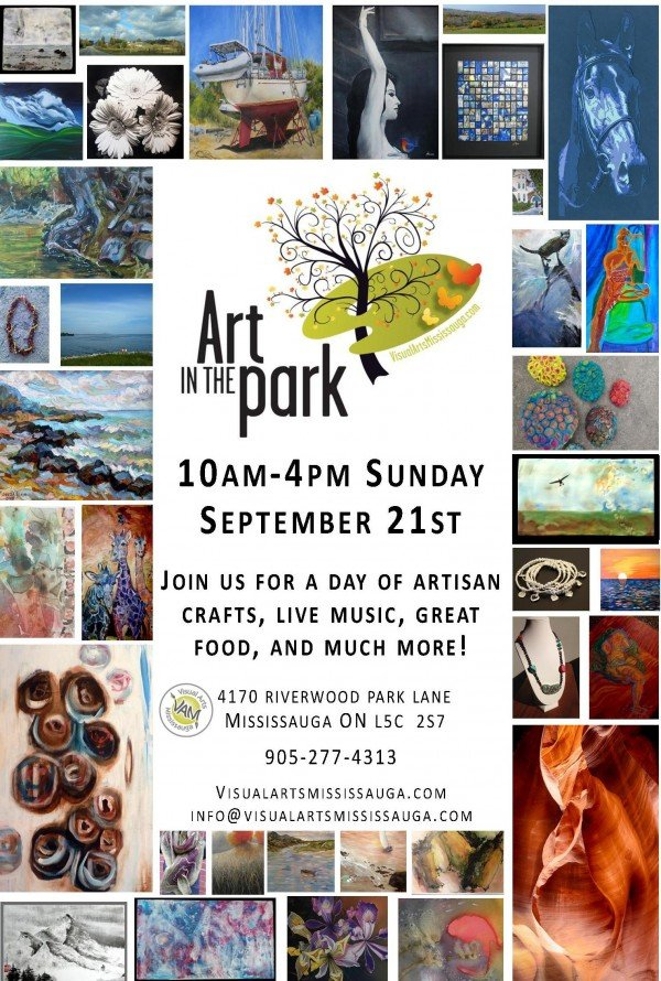 Art in the Park Poster image from https://www.visualartsmississauga.com/