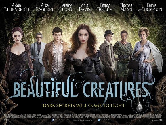 Beautiful Creatures (2013) Movie Poster Google image from http://images.cinemas-online.co.uk/0/4/82/Beautiful-Creatures-UK-Poster-585x438-440.jpg
