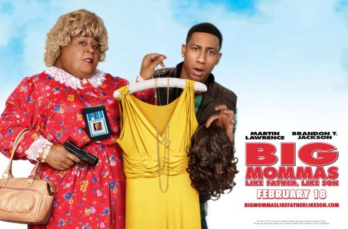 Big Mommas: Like Father, Like Son Google image from http://images.allmoviephoto.com/2011_Big_Mommas:_Like_Father,_Like_Son/2011_big_mommas_like_father_like_son_wall_7.jpg