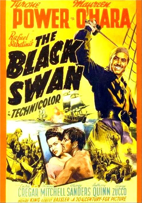 The Black Swan (1942) Movie Poster from http://saltypopcorn.com.au/wp-content/uploads/2015/07/psnOAJyFrmIchyJ.jpg