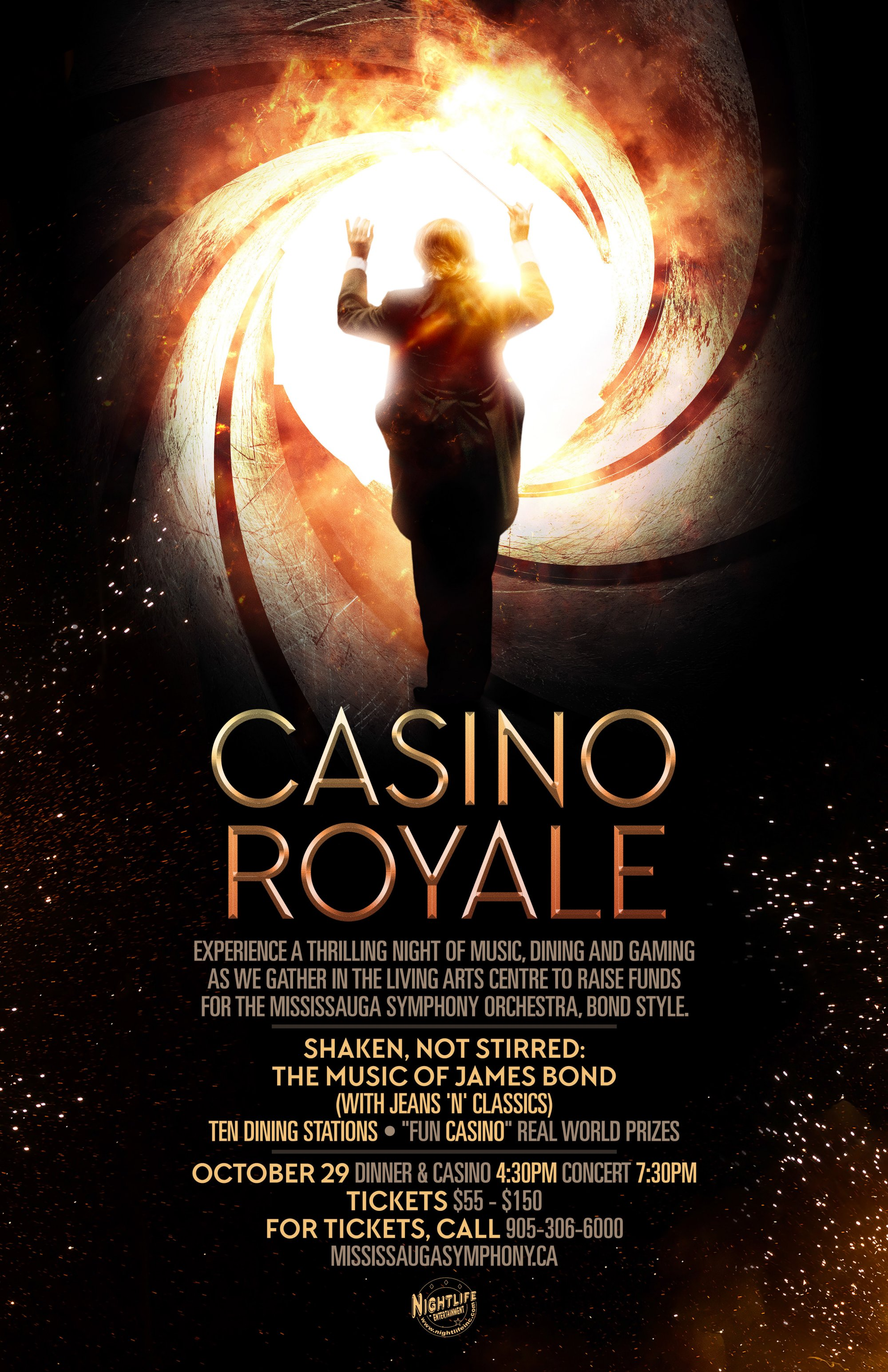 Casino Royale: Shaken, Not Stirred: The Music of James Bond image from Living Arts Centre email 23 Oct 2017
