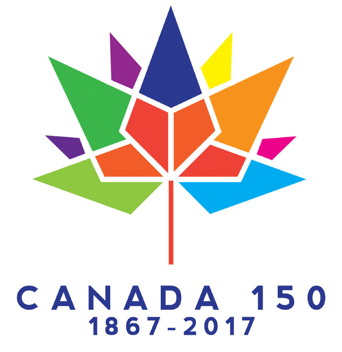 Canada 150 Logo designed by University of Waterloo student Ariana Cuvin circa April 2015 Google image from https://www.thestar.com/news/canada/2015/04/28/controversial-canada-150-logo-design-contest-won-by-university-of-waterloo-student.html