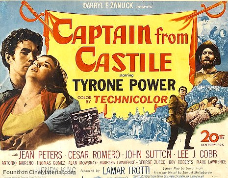 Captain from Castile (1947) Movie Poster from https://www.cinematerial.com/media/posters/md/qy/qyd1dxel.jpg?v=1456642281
