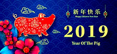 Chinese New Year's Celebration image from The Erinview email Jan. 2019