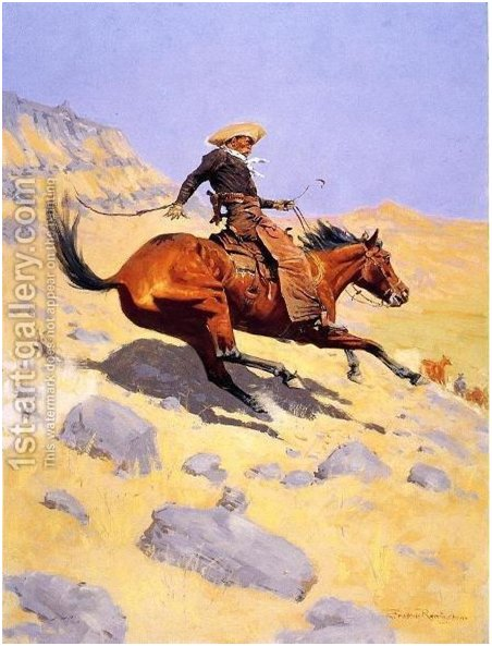 The Cowboy by Frederic Remington Google image source https://www.1st-art-gallery.com/Frederic-Remington/The-Cowboy.html