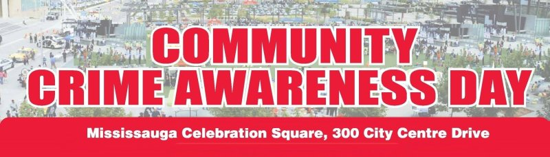 Community Crime Awareness Day Logo adapted image from http://www.crimeawareness.ca/event.php