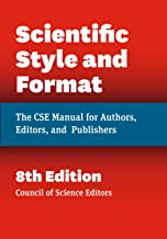 Scientific Style and Format: The CSE Manual for Authors, Editors, and Publishers, 7th ed. 2006