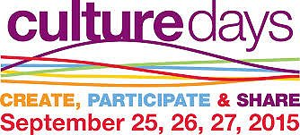 Culture Days 2015 Logo Google image from http://culturedays.ca/en/resources/r/culture-days-logos