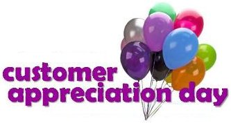 Customer Appreciation Day Google image from https://creditunioncoresystem.files.wordpress.com/2013/08/cad-envelope.gif