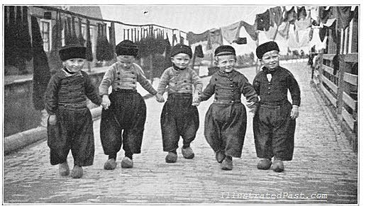 Dutch boys wearing clogs Google image from http://www.illustratedpast.com/wp-content/uploads/2010/12/dutchboys1.jpg