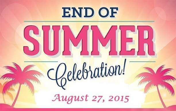 End of Summer Celebration Google image adapted from http://www.harperspreserve.com/sites/harperspreserve.com/files/HP-Labor-Day-Flyer_0.jpg
