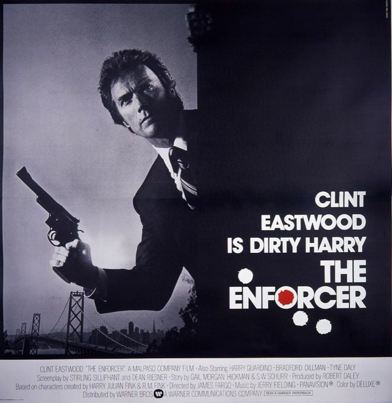 Clint Eastwood is Dirty Harry The Enforcer Google image from http://www.eyetheticker.com/.a/6a00e5502775dc883401630236a927970d-800wi