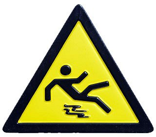 Slip and Fall Sign Google image from http://wakemedvoices.org/wp-content/uploads/2010/02/Slip_and_Fall_-_sign_FNL.jpg