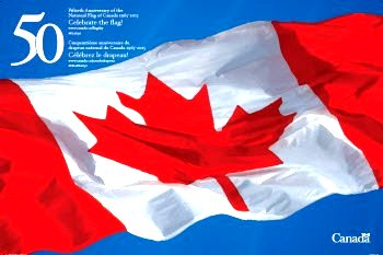 50th Anniversary National Flag of Canada Day poster http://www.pch.gc.ca/eng/1359736104513