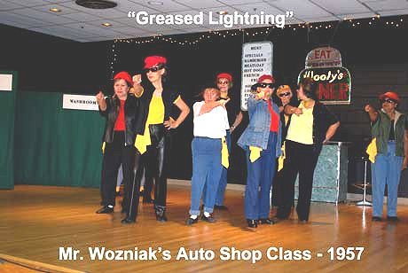 Flash Back to the 50's Greased Lightning - Mr. Wozniak's Auto Shop Class, 1957