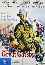 Great Gatsby 1949 starring Alan Ladd and Betty Field, DVD