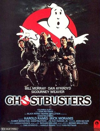 Ghostbusters (1984) Movie Poster Google image from http://grahamsdownunderthoughts.blogspot.ca/2010_07_18_archive.html