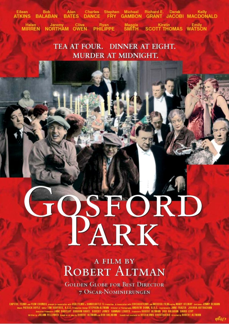 Gosford Park Movie Poster Google image from http://ilarge.listal.com/image/131959/936full-gosford-park-poster.jpg