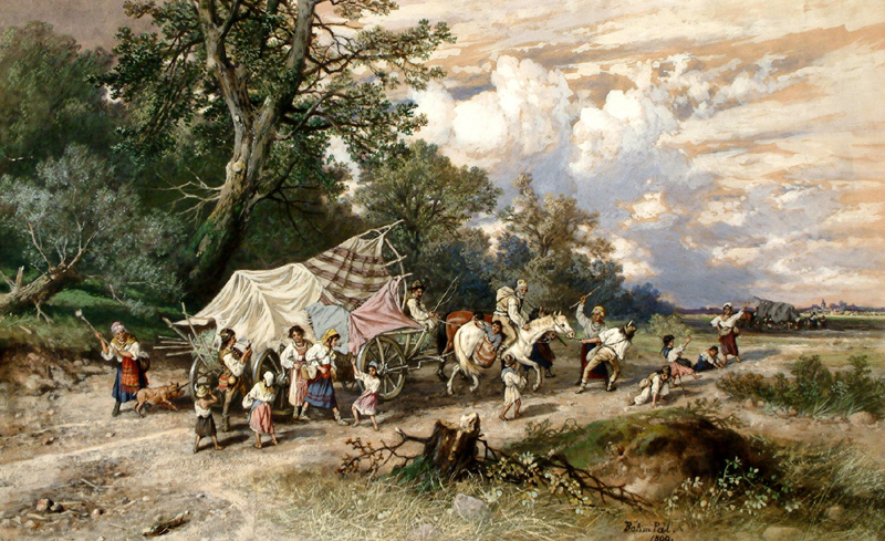 Google image from http://www.terminartors.com/artworkprofile/Bohm_Pal-Gypsy_Caravan