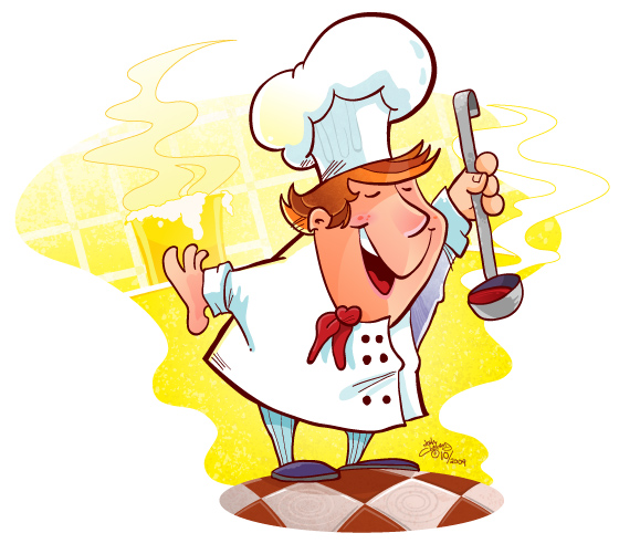 Happy Chef Google image from http://www.clelandillustration.com/blog/wp-content/uploads/2009/10/happy-chef1.jpg