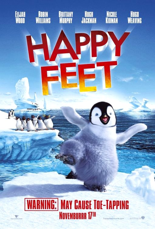 Happy Feet (2006) Movie Poster Google image from http://www.impawards.com/2006/posters/happy_feet.jpg