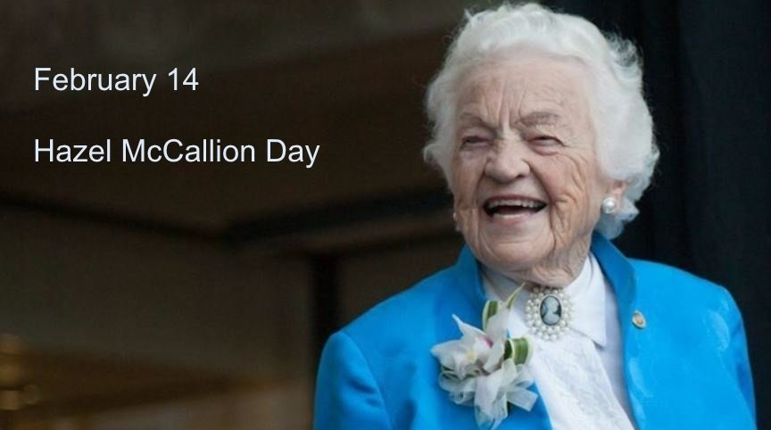 Hazel McCallion Day image adapted from Bonnie Crombie email 1Feb17