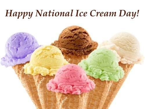 Happy National Ice Cream Day Google image adapted from http://www.bms.co.in/happy-ice-cream-day-2014-facebook-greetings-whatsapp-images-wallpapers/