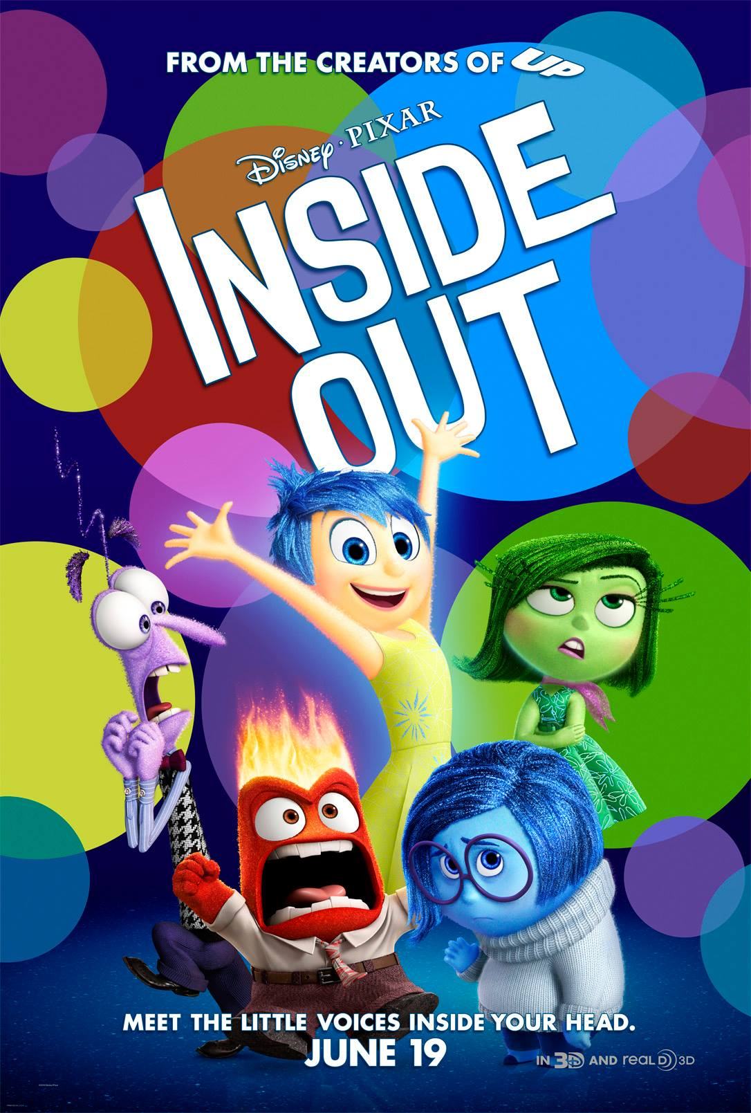 Inside Out (2015) Movie Poster Google image from http://www.fatmovieguy.com/disney-pixars-inside-out-trailer-2-and-movie-poster/