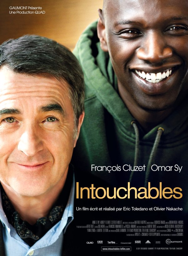 The Intouchables Movie Poster Google image from http://stateofmind13.files.wordpress.com/2012/03/intouchables-movie-poster.jpg