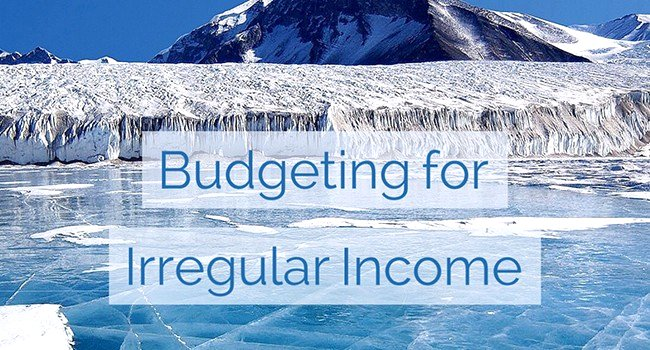 Budgeting for Irregular Income Google image from https://due.com/blog/non-traditional-way-budgeting-variable-income/