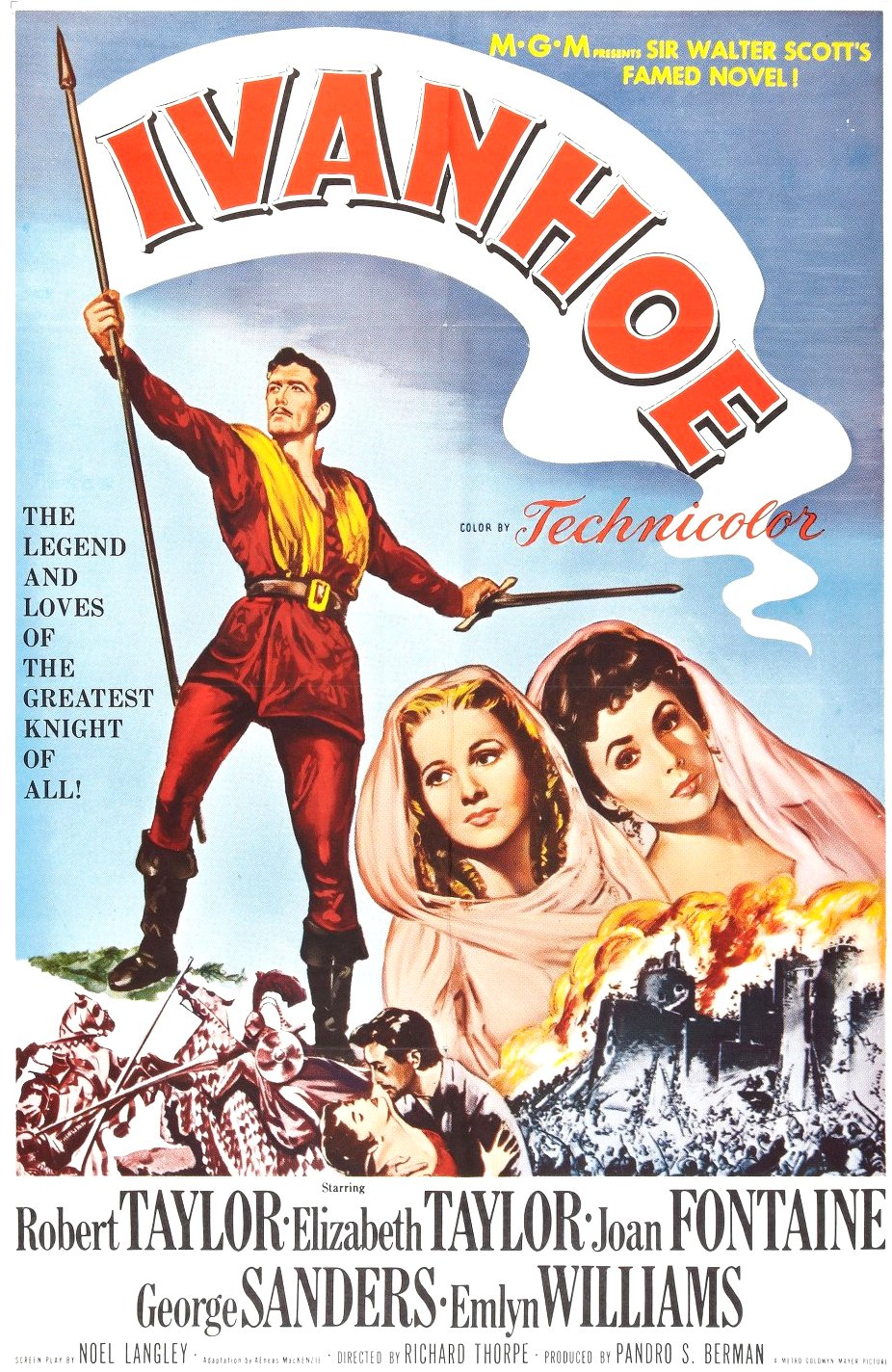 Ivanhoe (1952) Movie Poster from http://www.impawards.com/1952/posters/ivanhoe_xlg.jpg